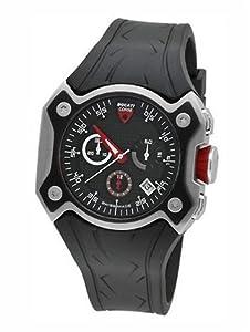 Ducati CW0013 - Reloj de caballero de cuarzo, correa de goma color negro