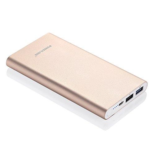 (パワーアド)Poweradd Pilot 2GS 10000mAhモバイルバッテリー 大容量 スマホ急速充電器 2USBポート iPhone6 / iPhone6s / iPhone5 / iPod / iPad / Xperia / Nexus / Sony等対応(ゴールド)