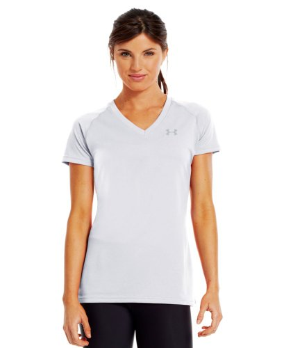 Under Armour Tech Women's Short Sleeve Running T-Shirt - X Large - White