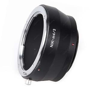 Leinox AD-M11 Bague d'adaptation pour objectifs Nikon sur boîtier Micro 4/3 Noir
