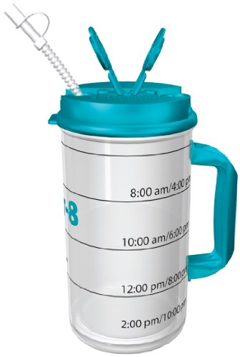 Hydr-8 Water Bottle - Time Marked Air Insulated 32 Ounce Mug (Water Bottle Time Markings compare prices)