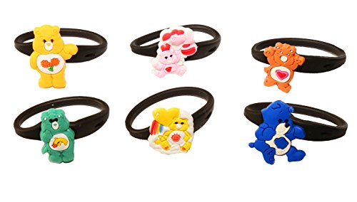 AVIRGO 6 pcs Releasable Ponytail Holder Elastic Rubber Stretchable No-slip Hair Tie Set # 22-6
