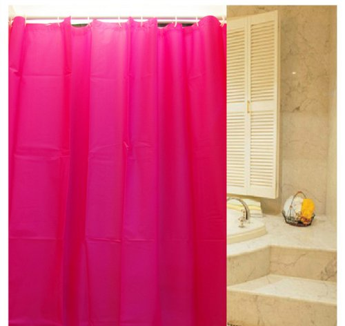 Eforgift Classic Colorful Shower Curtains For Bathroom 72 Inch Water Proof And Mildew-Proof With 12 Free Hooks Pink front-848931