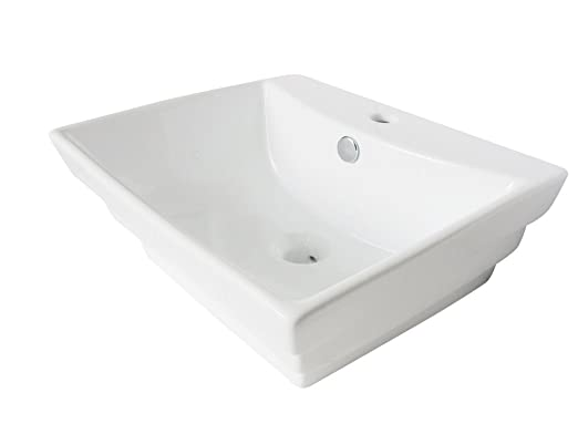 Kingston Brass EV4346 Fauceture Tahoe Vitreous China Bathroom Vessel, White