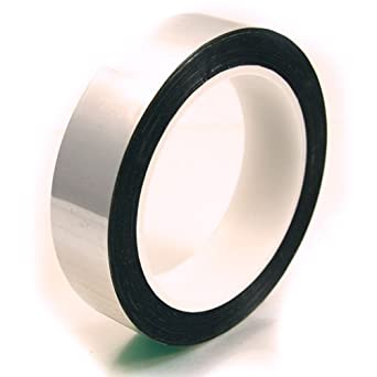 "CS Hyde Metalized Mylar Tape with Acrylic Adhesive, 2.2mm Thick, Silver Color, 0.5"" x 72 yds"