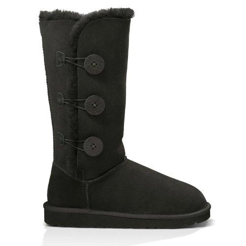 UGG Women's Bailey Button Triplet Boot Black Size 6