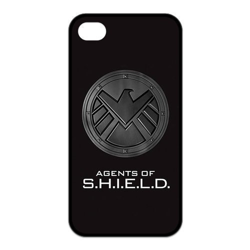 MAS CASE- Personalized Protective Black TPU Rubber Cell Phone Case Cover for iPhone 4 & iPhone 4S -Marvel's Agents of S.H.I.E.L.D. SHIELD