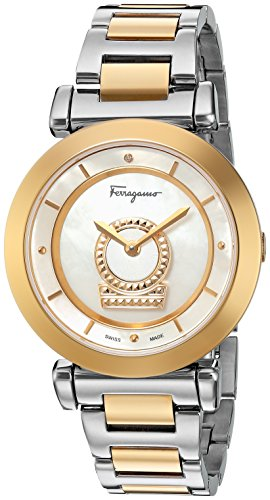 Salvatore-Ferragamo-Womens-FQ4250015-Minuetto-Analog-Display-Swiss-Quartz-Two-Tone-Watch