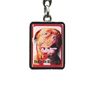 Dogue De Bordeaux Dog Keyring - 4cm x 3cm