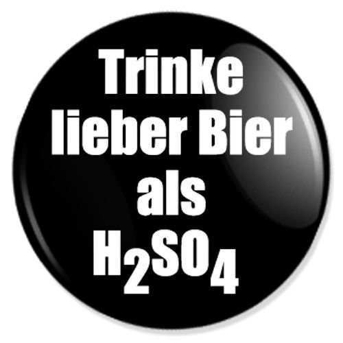 Button Trinke lieber Bier - fun buttons, funny badges, fun pins, sprüche buttons, fun badge