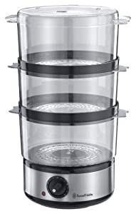 Russell Hobbs 14453 Food Collection Compact Food Steamer, 7 L - Brushed Stainless Steel
