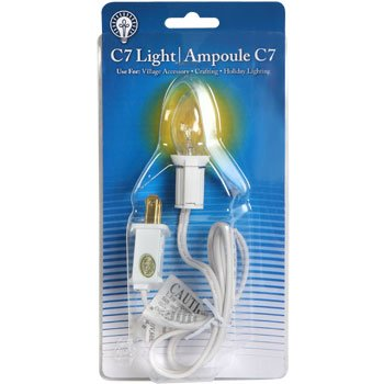 Single Light Replacement Cord with C7 Bulb (Electrical Bulb Cord compare prices)