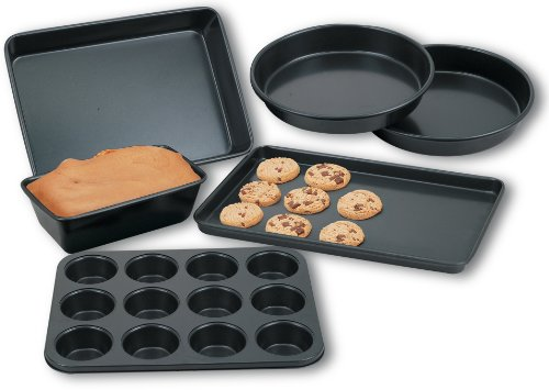 Cook N Home 6-Piece Heavy Gauge Nonstick Bakware Set