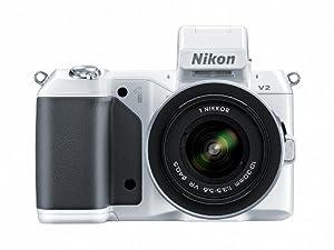 Nikon 1 V2 14.2 MP HD Digital Camera with 10-30mm & 30-110 VR 1 NIKKOR Lens (White)