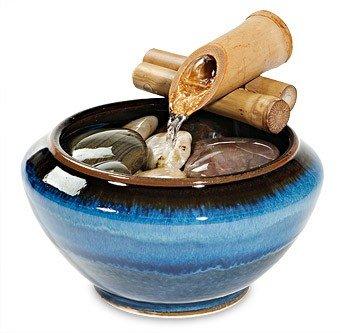 Rustic Tabletop Fountain-Blue | Ziji