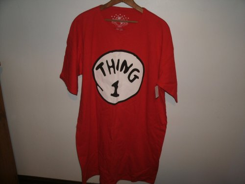 Dr. Seuss The Cat in the Hat Thing 1 Costume Shirt Size OS (One Size Fits Most)