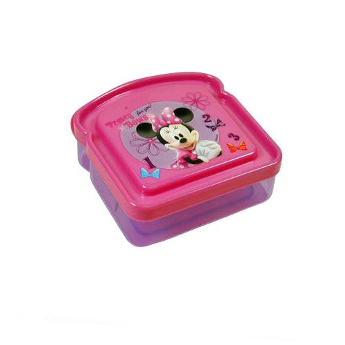 WeGlow International Minnie Bowtique Sandwich Container (3 Sandwich Containers) - 1