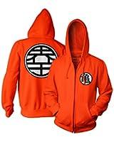 Ripple Junction Dragon Ball Z Kame Symbol Adult Zip Hooded Sweatshirt