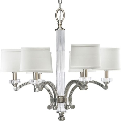 Progress Lighting P4501-101 6-Light Roxbury Chandelier, Classic Silver