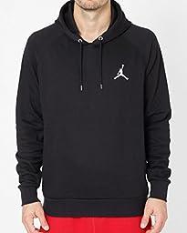 Nike mens JUMPMAN BRUSHED PO HOODY BLACK/WHITE