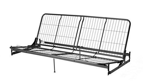 DHP Vermont Metal Futon Full Sized Frame, Black