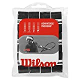 Wilson Sporting Goods Advantage Tennis Racket Grip (Pack of 12), Black