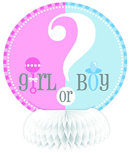 "Gender Reveal 6"" Mini Honeycomb Decorations (4 Pack) - 1"