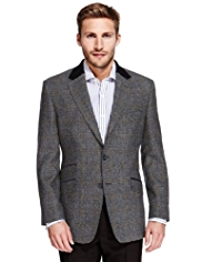 Sartorial Luxury Pure New Wool Checked Jacket