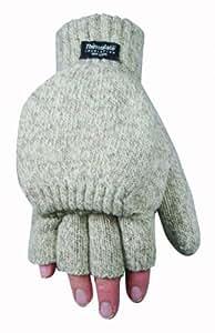 Wells Lamont 577L Fingerless Ragg Wool Gloves, Large