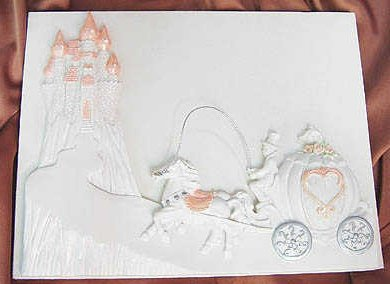 Cheap Wedding Invitations Cinderella Castle Amp Coach Fairy Tale Fantasy Guest Registry Sign In