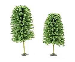 Bachmann Trains 5 1/2 - 6 1/2 Deciduous Trees 2 per box - O Scale.