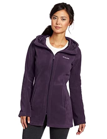Columbia Women's Benton Springs Long Hoodie, Dark Plum, Large