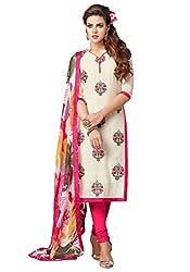 Mastani Kreation Women's Cotton Dress Material (MK7DMK016 _Off White)