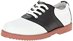 Academie Gear Honor Roll Saddle Shoe (Toddler/Little Kid/Big Kid),White/Black,10 M US Toddler