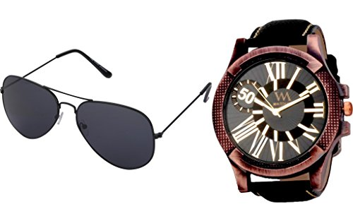 RAKHI Gift Set Of Watch And Sunglasses For MEN BY WM