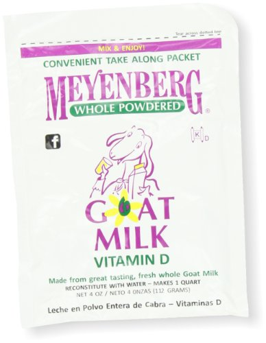 Meyenberg Powdered Goat Milk, Vitamin D, 4-Ounce Pouches (Pack Of 12)