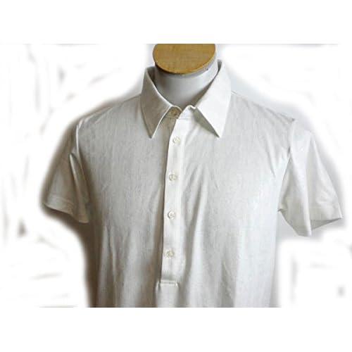 (カスタムカルチャー) CUSTOM CULTURE 半袖ポロシャツ 白色 銀箔 L
