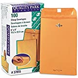 Quality Park Clasp Envelopes, 6 x 9 - Inches, Box of 100 (37855)