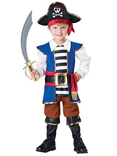 InCharacter Baby Boy's Pirate Boy Costume, Blue/Red, 4T
