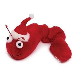 Zanies Plush Winter Wiggler Cat Toy, 6-1/4-Inch, Red