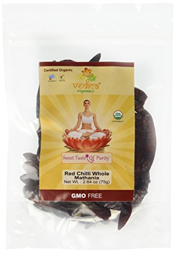 Organic Whole Red Chili Mathania- Indian Reddish Dry Spice (Chili Dry compare prices)
