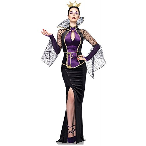 [GSG Evil Queen Costume Adult Halloween Fancy Dress] (Lady Reaper Adult Plus Size Costumes)