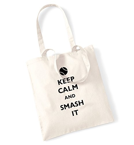 Keep calm and smash it tote bag
