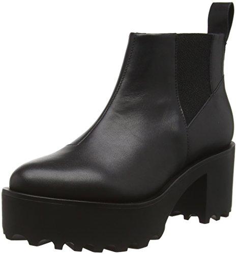 cheap-monday-latch-botines-para-mujer-color-negro-black-black-200-talla-40-eu-7-uk
