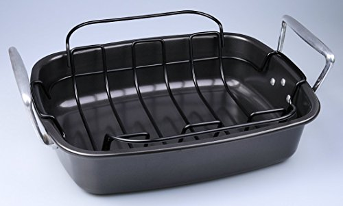 SunCity Non-stick Roaster with Rack, Graphite Grey