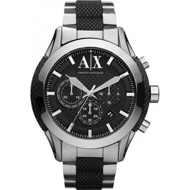 Armani Exchange AX1214 Mens ZULU Chronograph Silver Watch