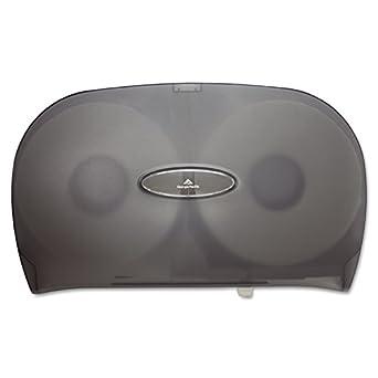 "Georgia-Pacific GP 59209 Translucent Smoke Jumbo Jr. Two Roll Bathroom Tissue Dispenser, 20.02"" Width x 12.26"" Height x 5.67"" Depth"