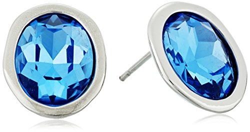 t-tahari-silver-light-sapphire-stud-earrings