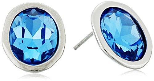 t-tahari-silver-light-sapphire-stud-earrings