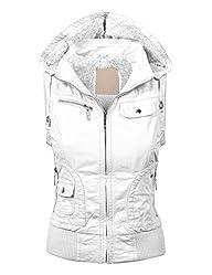 MBJ Womens Faux Leather Moto Vest